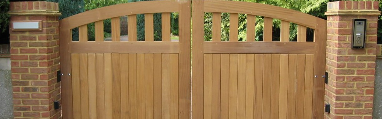 Wooden Gates with Intercom System